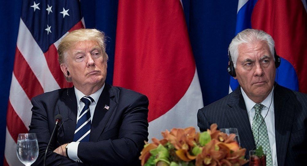 美国总统特朗普与美国务卿卿蒂勒森