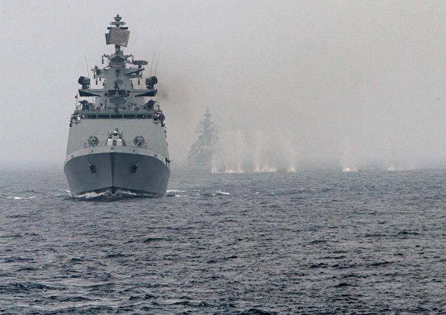 Indra Navy-2020演习期间俄印海军在孟加拉湾开火