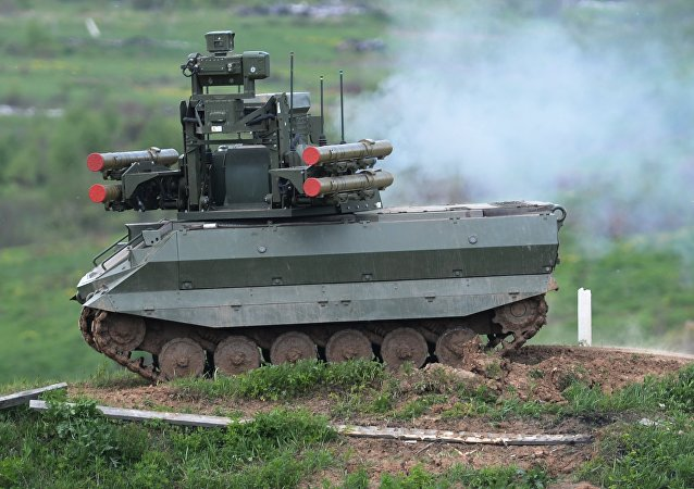 """""""乌兰9""""(Uran-9)型多功能战斗机器人"""