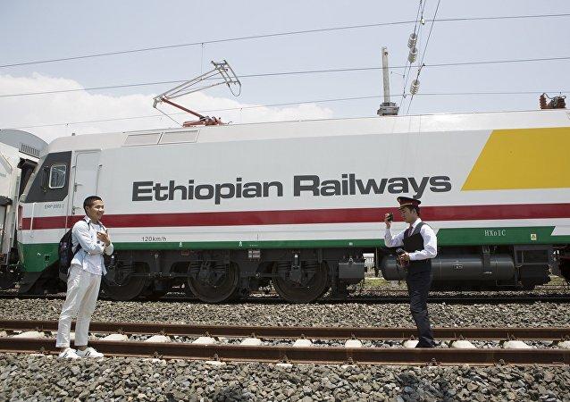 中国制造的埃塞俄比亚列车
