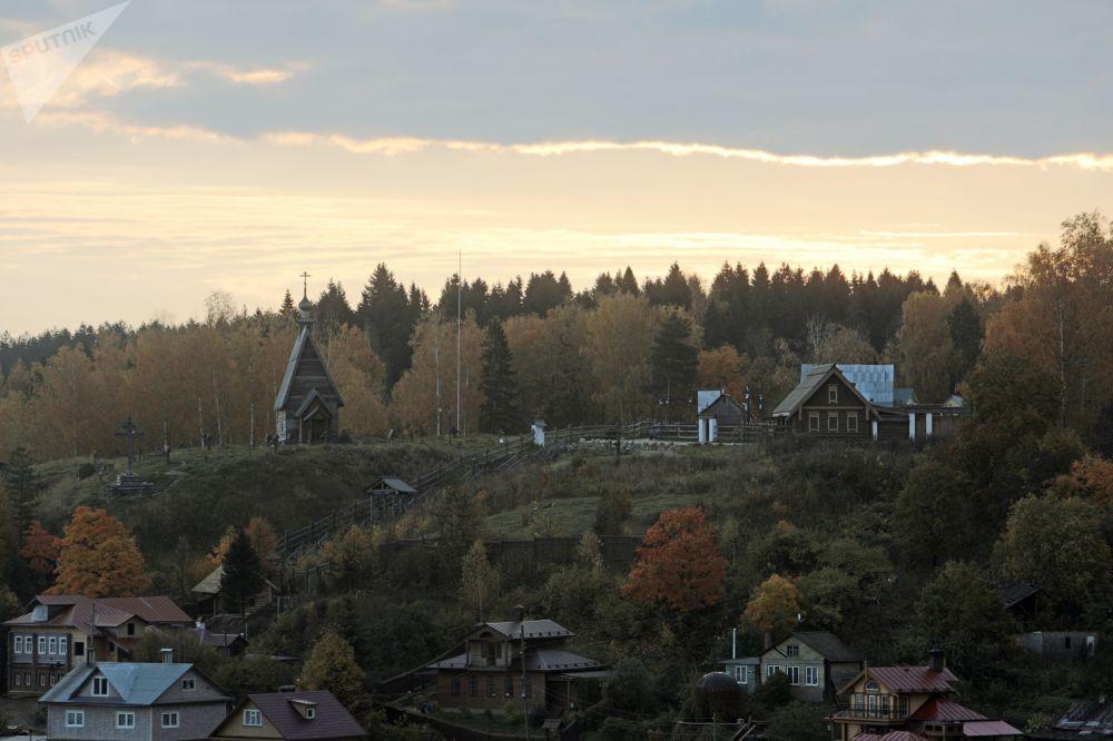 從沃斯克列先斯卡亞山上鳥瞰普廖斯