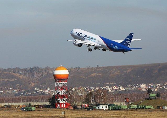 俄制MS-21客机完成伊尔库茨克至莫斯科近郊茹科夫斯基的首飞