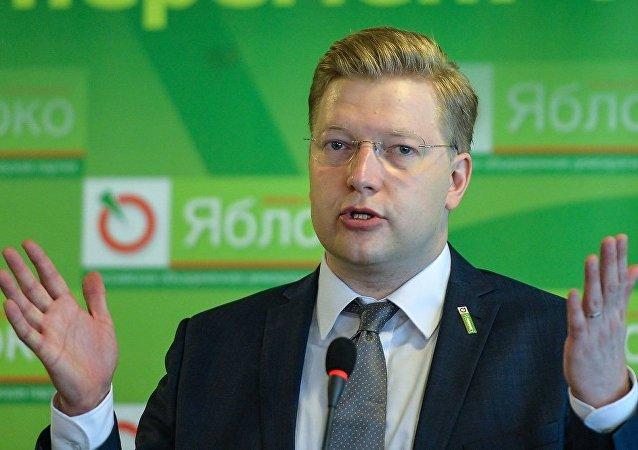 """俄罗斯统一民主党""""亚博卢""""副主席尼古拉·雷巴科夫"""
