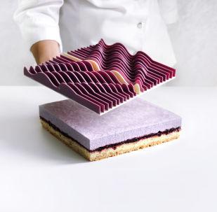 建筑师制作的蛋糕:找到与实物建筑相同的地方