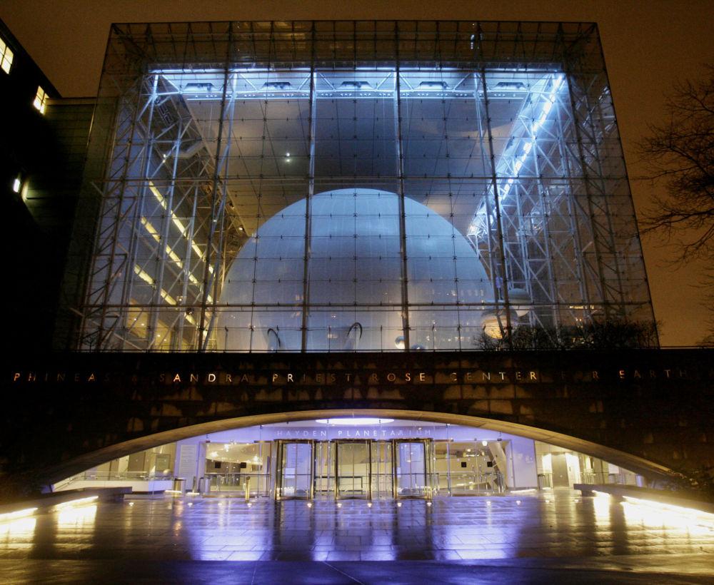 在纽约的海登天文馆(Hayden Planetarium)