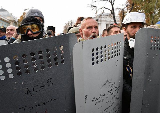 基辅最高拉达抗议者向波罗申科总统提出新要求