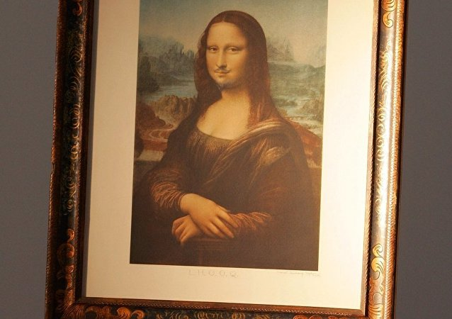 画着胡须和胡子的画作蒙娜•丽莎在巴黎拍得74.3万美元