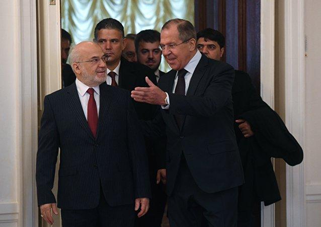 俄罗斯外长拉夫罗夫与伊拉克外长贾法里举行会晤