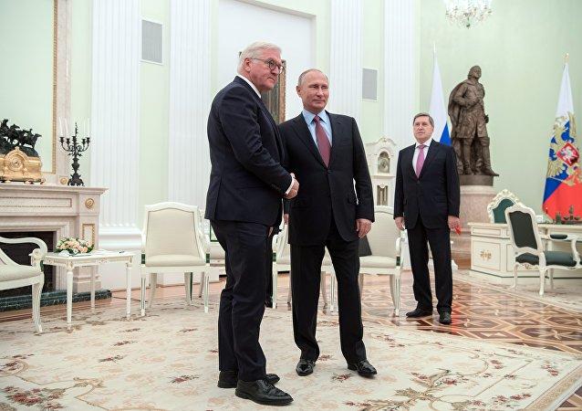 普京:希望德國總統的到訪有助於發展俄德關係