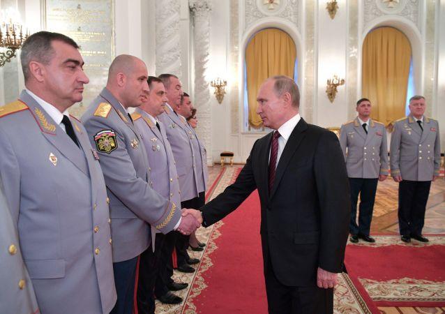 普京:俄联邦安全局2017年成功预防43起恐怖主义犯罪活动