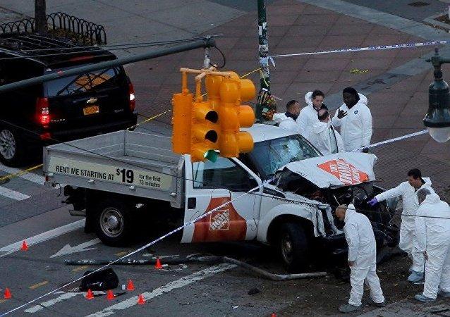 纽约恐袭嫌疑人被监控摄像头拍到