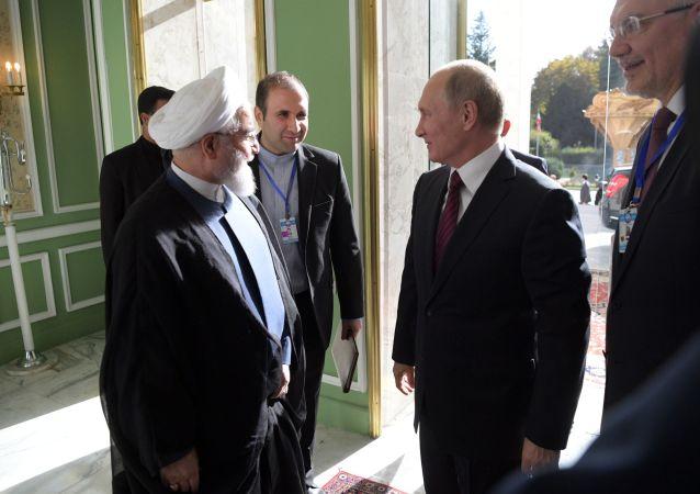 伊朗總統新聞處發佈消息稱,伊朗與俄羅斯就敘利亞問題的合作將一直持續到徹底戰勝恐怖分子