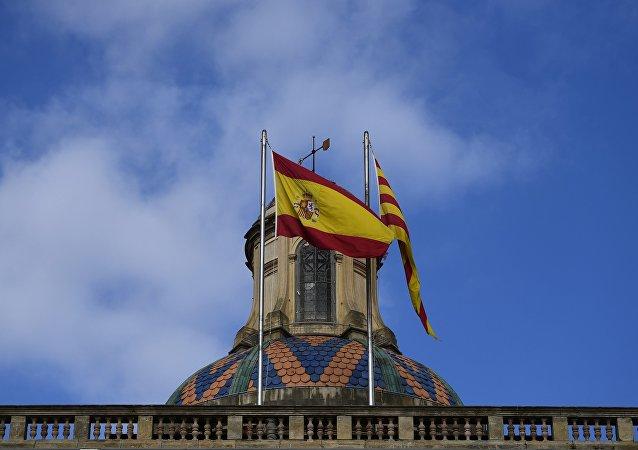 巴塞罗那举行集会抗议西班牙国王来访 约20人受伤