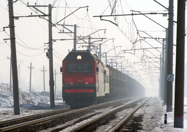 俄铁公司加挂来往中国的集装箱过境火车的车皮