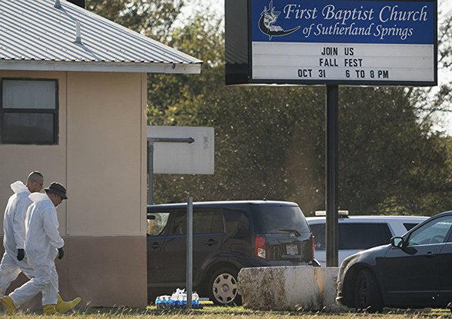 第一浸信会教堂,位于德克萨斯州的萨瑟兰泉(Sutherland Springs)