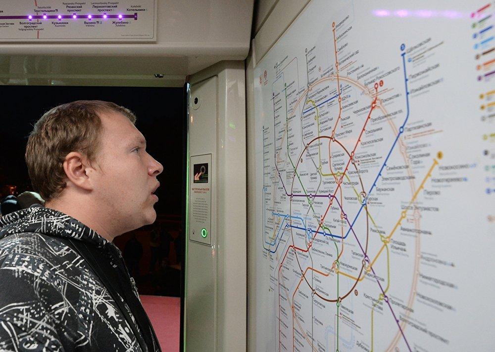 Во время презентации нового поезда столичного метро Москва