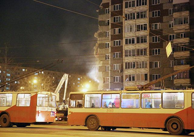 所有住户都已从伊热夫斯克市发生局部坍塌的居民楼里撤离