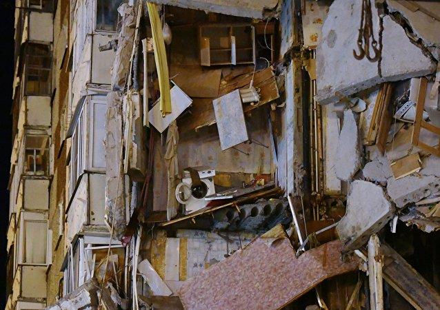 俄罗斯居民楼局部坍塌事故每位遇难者的家属将获赔1百万卢布