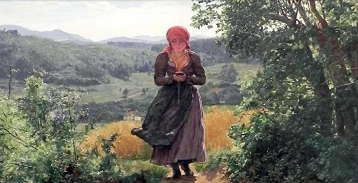 奧地利畫家1860年作品《被期待的人》畫中女孩手中驚現iPhone手機