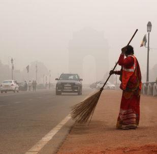 印度首都德里,污浊空气
