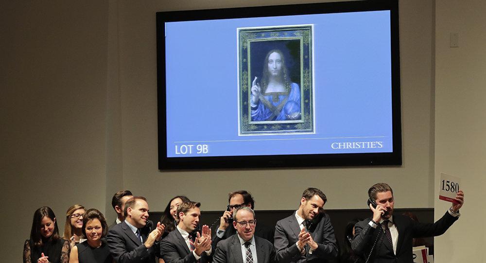 列奥纳多•达•芬奇的画作《救世主》