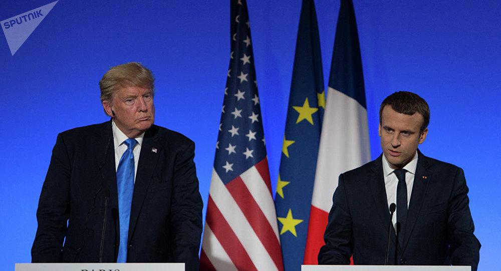 美国总统特朗普和法国总统马克龙