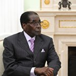 Президент РФ В.Путин встретился с президентом Республики Зимбабве Р.Мугабе