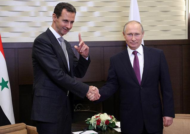 克宫:普京与阿萨德的会谈有助于索契峰会取得成功