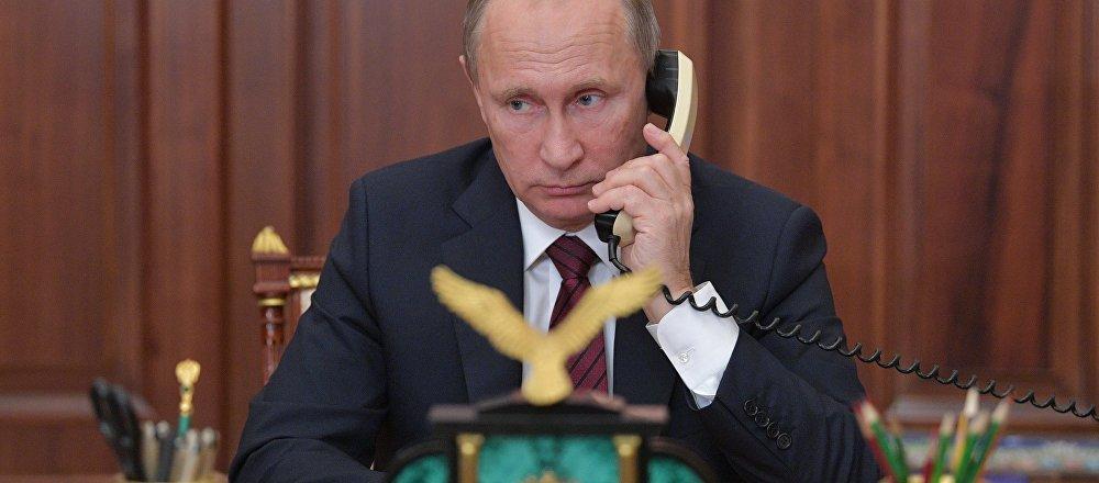 普京和特朗普通电话讨论叙利亚局势