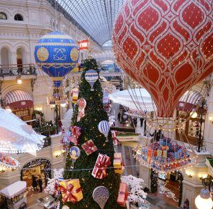 莫斯科古姆百貨商場的節日裝飾