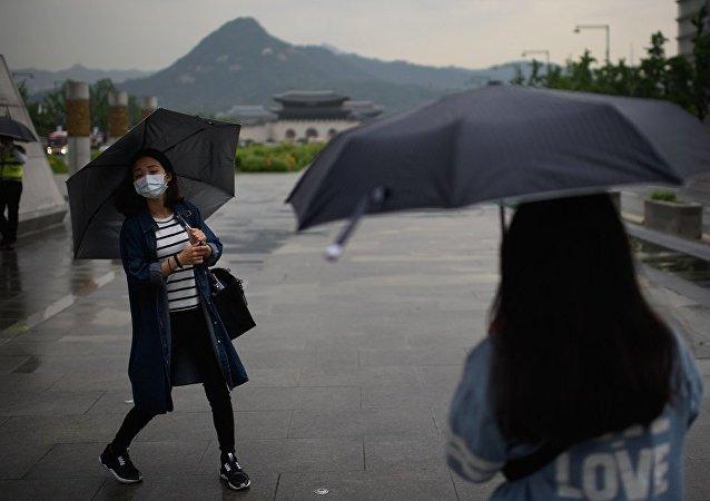 中国旅客在首尔