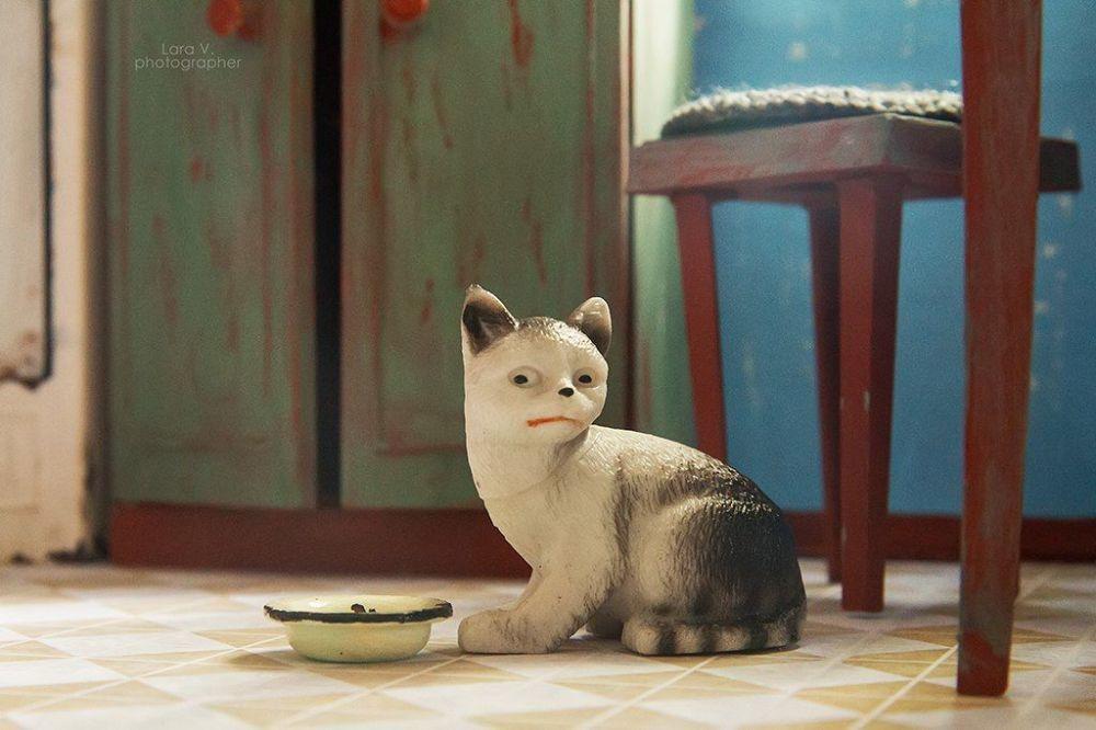 芭比的塑料猫。