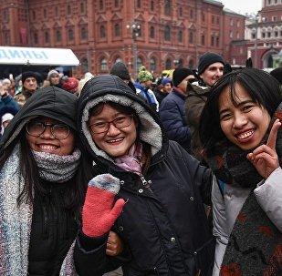 中國遊客在莫斯科