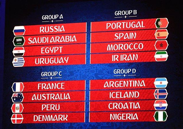 2018年俄罗斯世界杯分组抽签揭晓