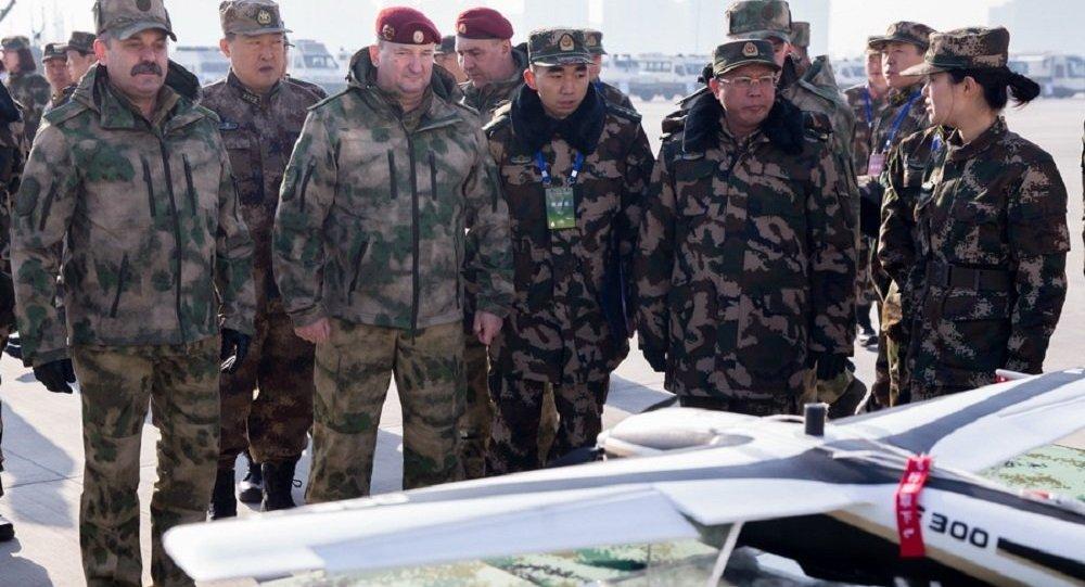 """俄国民卫队和中国武警完成""""合作2017""""演习的关键阶段"""