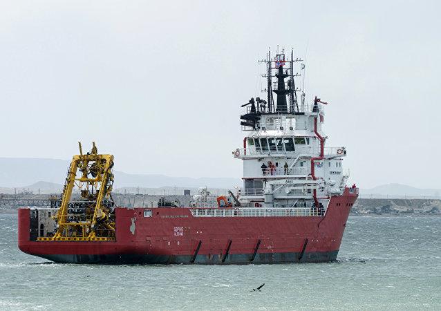 """阿根廷海军:载有俄搜索设备的军舰已经抵达""""圣胡安""""号潜艇失踪地区"""