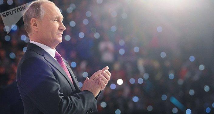普京仍为2018年1月份俄罗斯最具影响力政治家