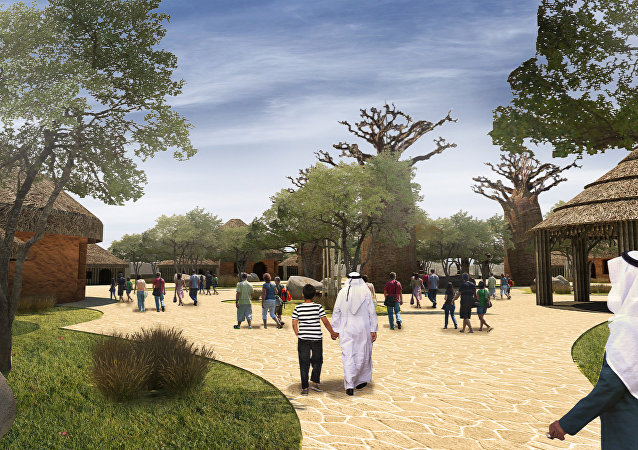 耗资3亿美元迪拜野生动物园周二即将对公众开放