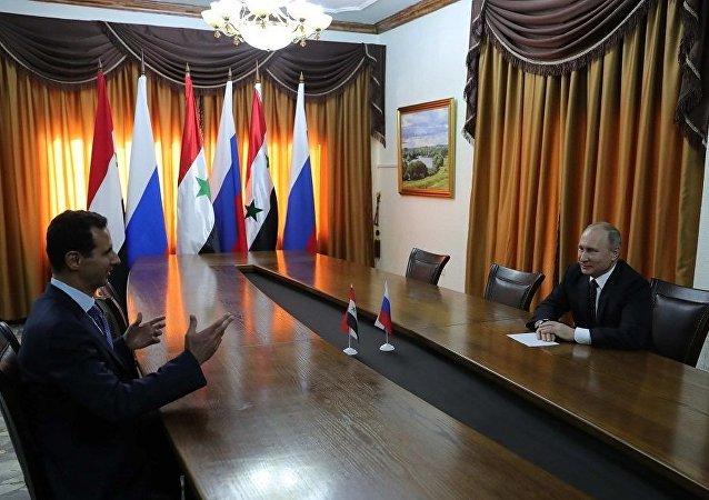 叙总统就俄军在反恐中发挥的作用向普京致谢