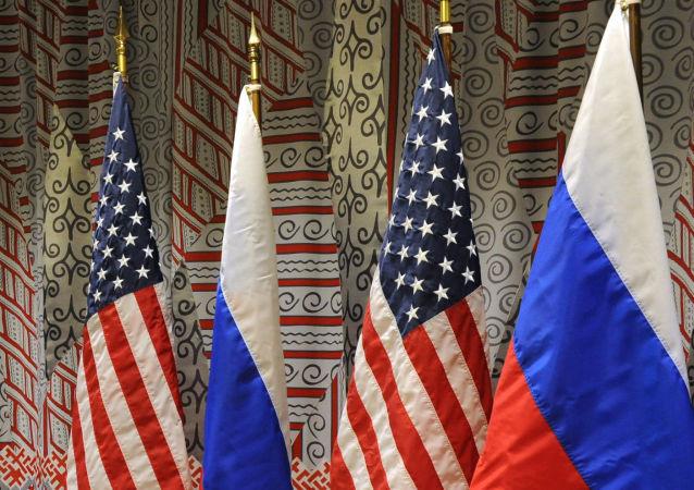 俄罗斯、美国国旗