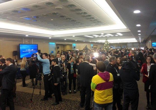 Перед пресс-конференцией Владимира Путина