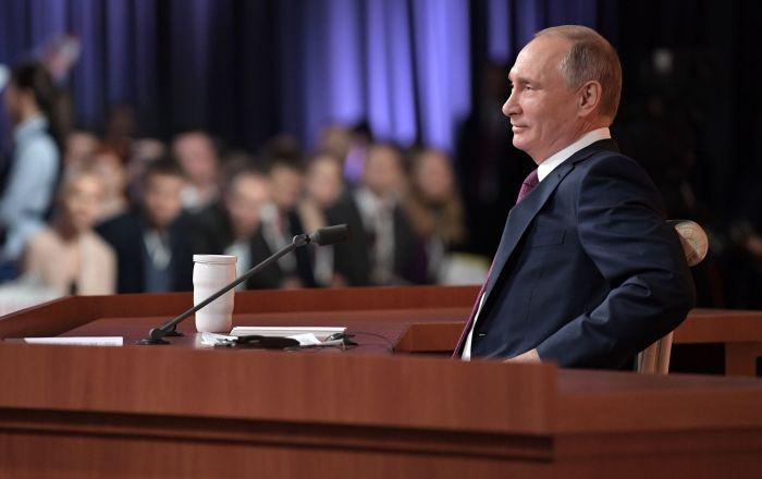 俄罗斯总统普京年度记者会