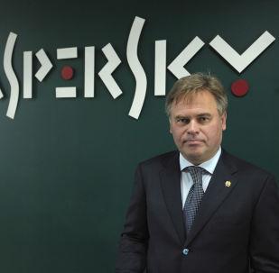 """俄罗斯网络安全公司""""卡巴斯基实验室""""创始人及公司总裁叶夫根尼·卡巴斯基"""