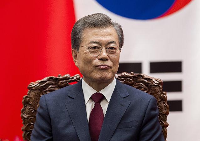 Президент Южной Кореи Мун Чжэ Ин во время визита в Китай