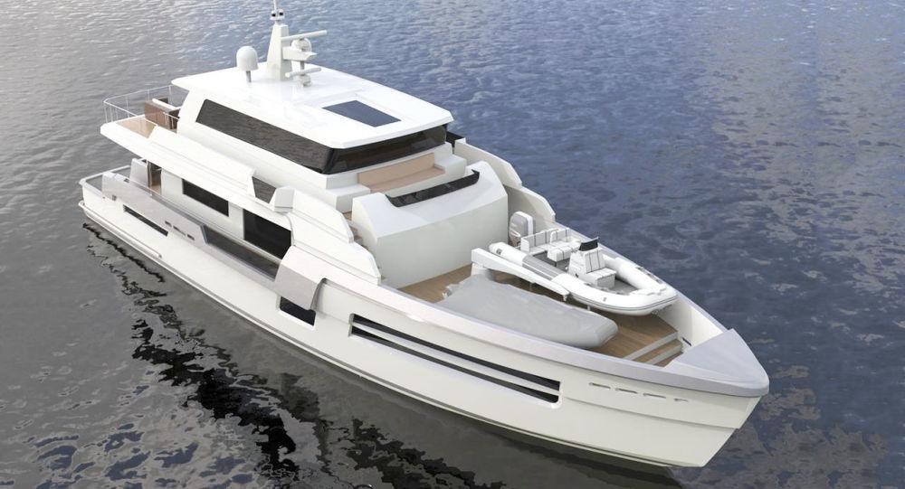 """30米长的""""超级快艇"""""""