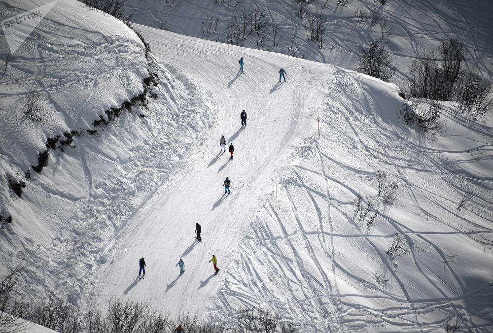 「羅莎庫塔」滑雪度假村是俄羅斯最大的滑雪度假村