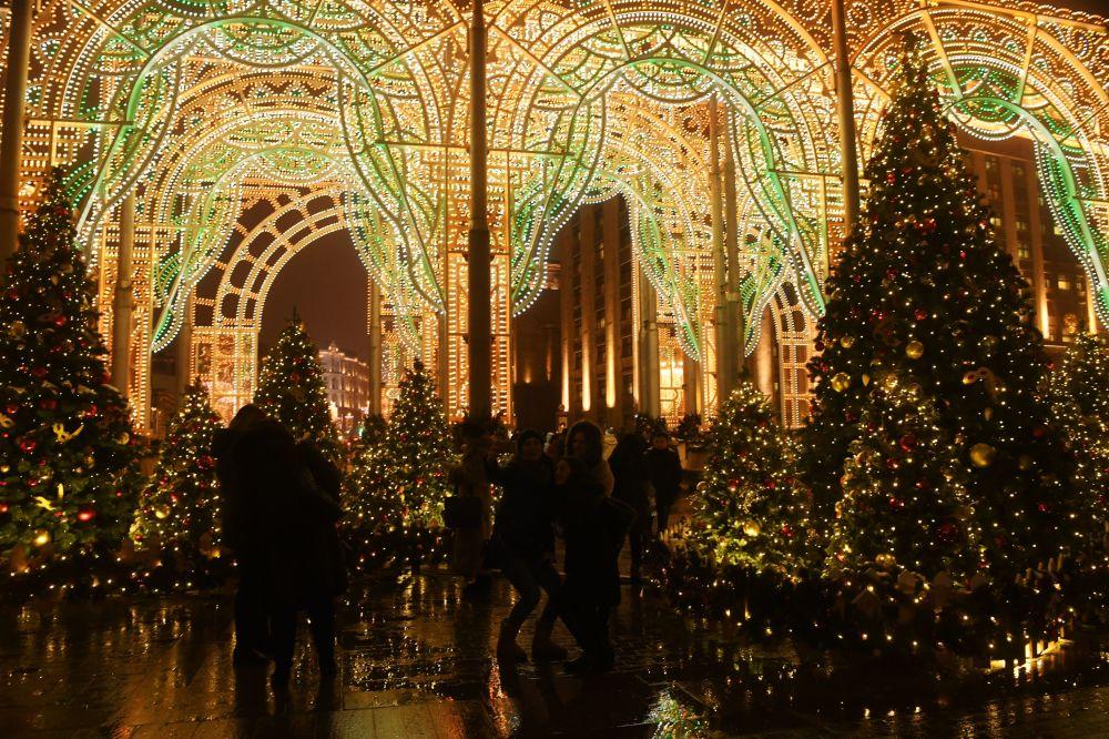 莫斯科的新年彩灯