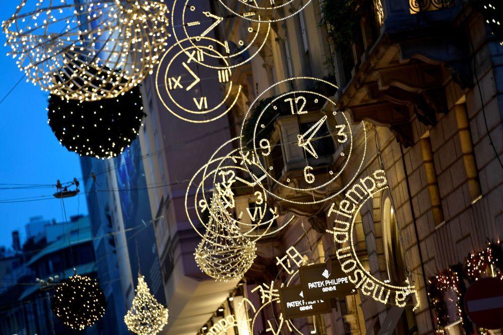 米蘭的新年彩燈