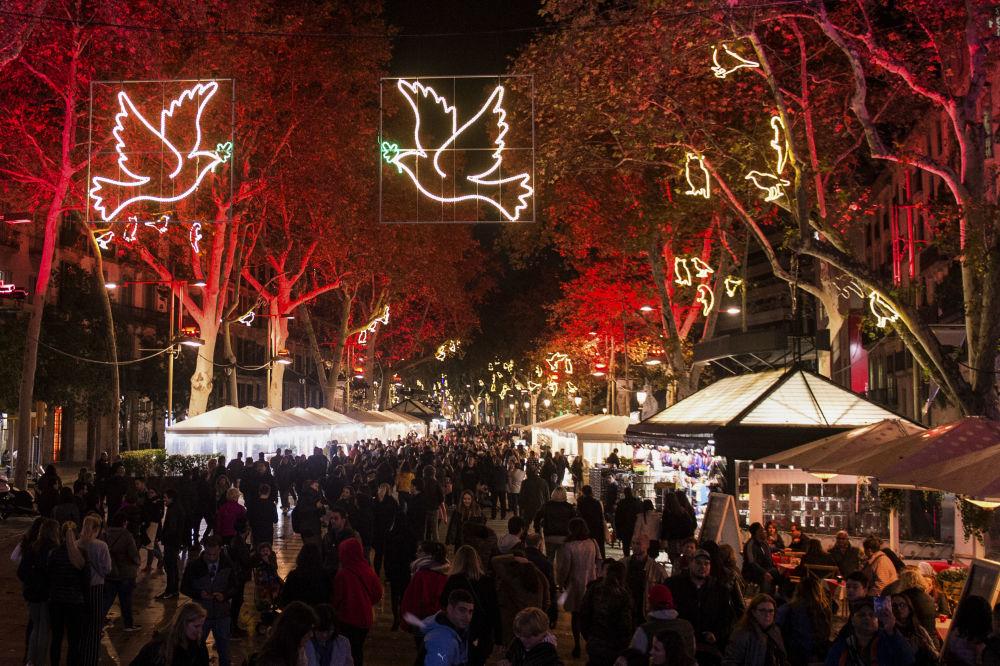巴塞罗那圣诞彩灯