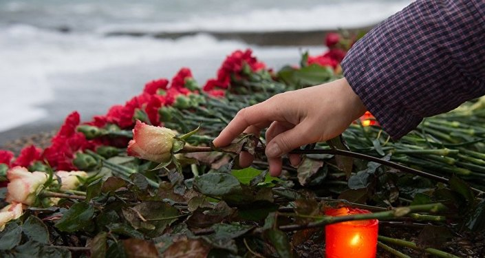 索契举行图-154飞机空难悼念活动